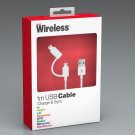 Just Wireless Lightning, MicroUSB data og laderkabel